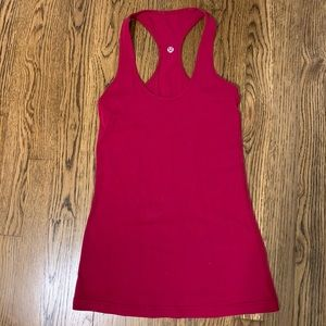 Lululemon cool racer back. Crimson. Size 6.